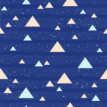 Triangle seamless pattern background. Vettoriali