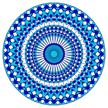Hand drawn oriental ornamental ethnic lace round mandala for t shirt design, vintage card, party invitation, yoga poster, fashion neckerchief, scarf, gift album, scrapbook, henna tattoo.