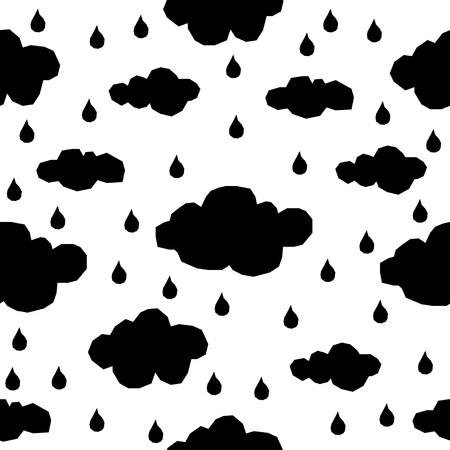 Handmade contrast seamless pattern. Vektorové ilustrace