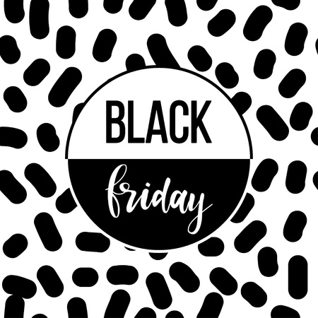 Black friday sale event theme. Abstract black friday pattern background for design shop advertising, market card, party invitation, poster, t shirt, modern web banner etc.