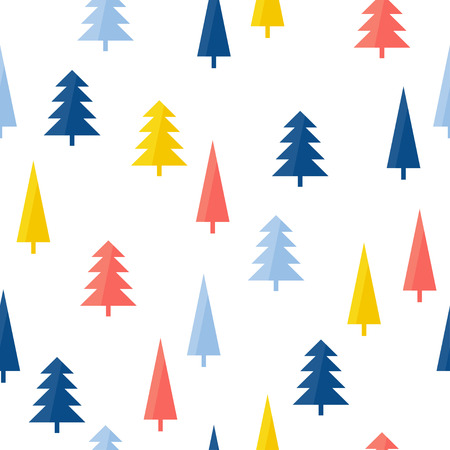 Abstract handmade forest seamless pattern background. Hand drawn cover for design gift card, birthday wallpaper, album, scrapbook, holiday wrapping paper, bag print, t shirt, baby nappy etc.