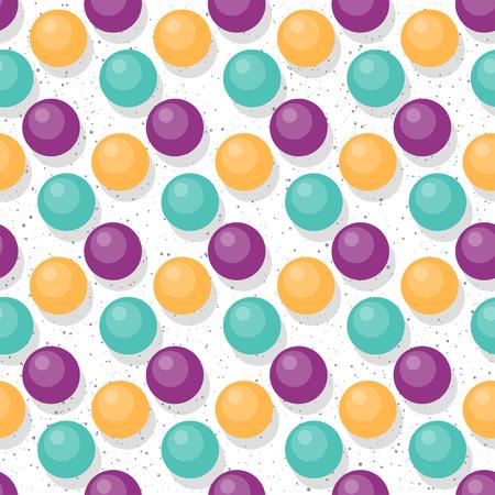 Beads seamless pattern background. Abstract cartoon circle beads for design card, invitation, t-shirt, book, banner, poster, scrapbook, album, textile fabric, garment, bag print etc.