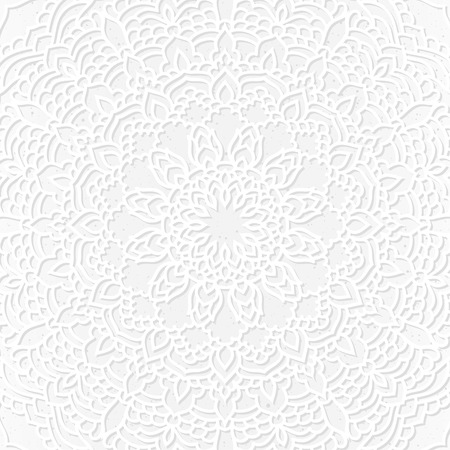 Hand drawn oriental ornamental ethnic lace background for t-shirt design, vintage card, party invitation, poster, fashion neckerchief, scarf, brochures, gift album, scrapbook etc Vektoros illusztráció