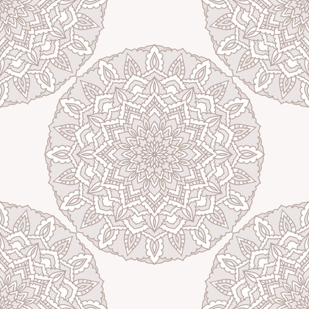 Hand drawn oriental ornamental lace seamless pattern for design t-shirt, birthday card, modern party invitation, textile, wrapping paper, store seasonal sale advertising, bag print etc.