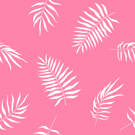 Tropical leaf seamless pattern. Abstract plants swatch for design brthday card, modern party invitation, spring or summer season shop sale, holiday advertising, bag or dress print, t shirt etc.