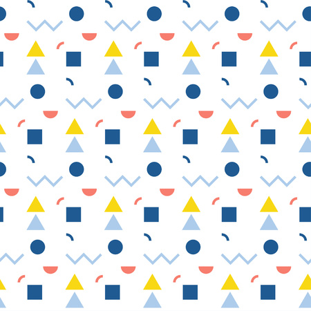 Abstract seamless pattern. Geometric shapes for design card, cafe menu, wallpaper, gift album, holiday wrapping paper, baby nappy, bag print, t shirt, workshop advertising etc.