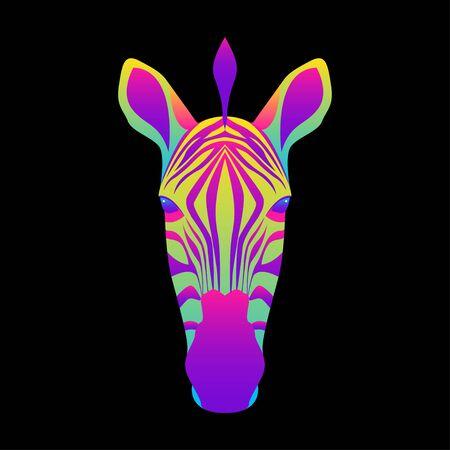 Abstract zebra portrait pattern.