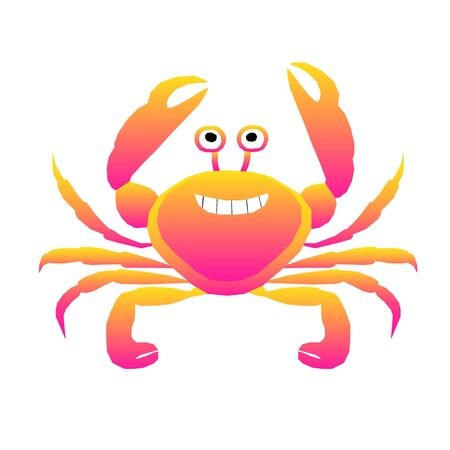 Abstract crab pattern background.