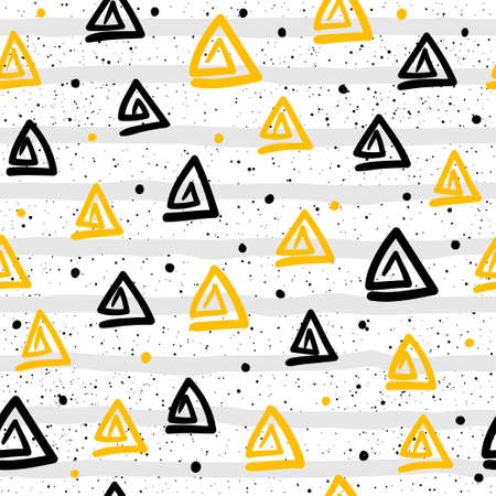 Drop seamless pattern background. Abstract handmade pattern for card, invitation, bag, wallpaper, album, scrapbook, holiday wrapping paper, textile fabric, garment, t-shirt etc Illustration