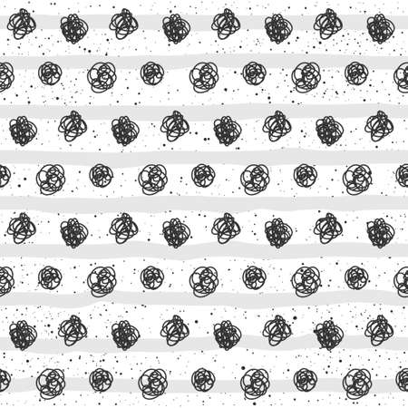 Doodle seamless pattern background. Abstract handmade pattern for card, invitation, bag, wallpaper, album, scrapbook, holiday wrapping paper, textile fabric, garment, t-shirt etc