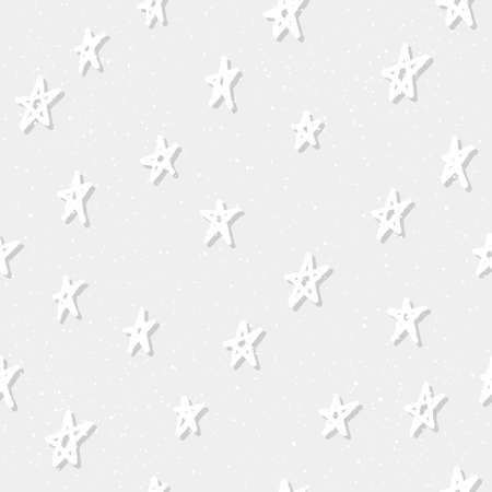 Doodle star seamless pattern background. Abstract star pattern for card, invitation, childish wallpaper, album, scrapbook, holiday wrapping paper, textile fabric, garment, t shirt, bag print etc Banque d'images