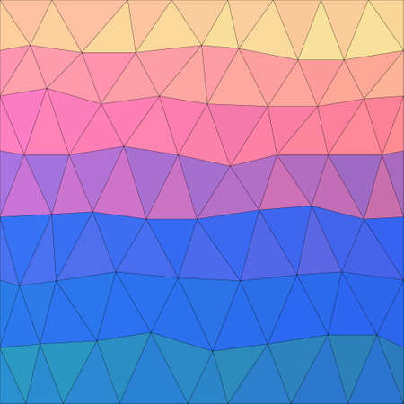 Abstract polygonal background. Vector triangle low poly pattern for use in design card, invitation, poster, t shirt, silk neckerchief, printing on textile, fabric, garment etc. Illusztráció