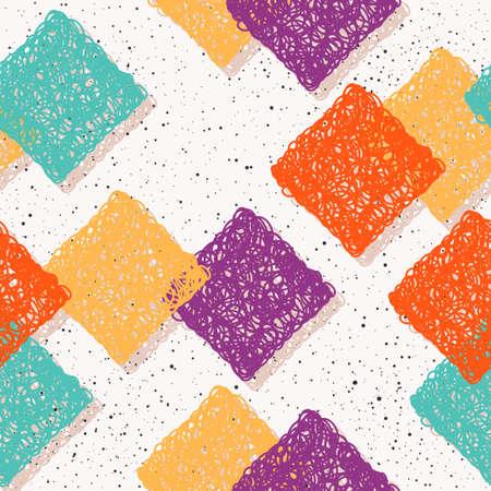Abstract seamless pattern background. Handmade doodle seamless pattern for design card, invitation, t shirt, book, banner, poster, scrapbook, album, textile fabric, garment, bag print etc.