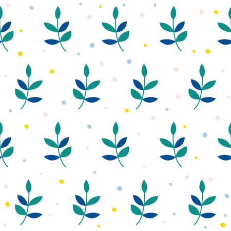 Abstract branch seamless pattern background. Childish simple application geometric cover for design card, wallpaper, album, scrapbook, holiday wrapping paper, textile fabric, bag print, t shirt etc.