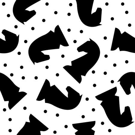 Abstract handmade chess seamless pattern background. Childish handcrafted wallpaper for design card, baby nappy, diaper, scrapbook, holiday wrapping paper, textile, bag print, t shirt etc.
