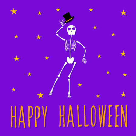 Abstract happy halloween pattern background. Modern childish halloween art for design card, halloween party invitation, menu, autumn holiday shop sale, bag print, t shirt etc. Ilustração