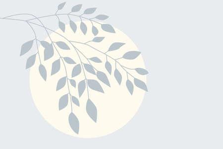 Tree branch pattern background. Minimalist plant branch art for design nursery poster, flower shop flyer, summer party advertising etc