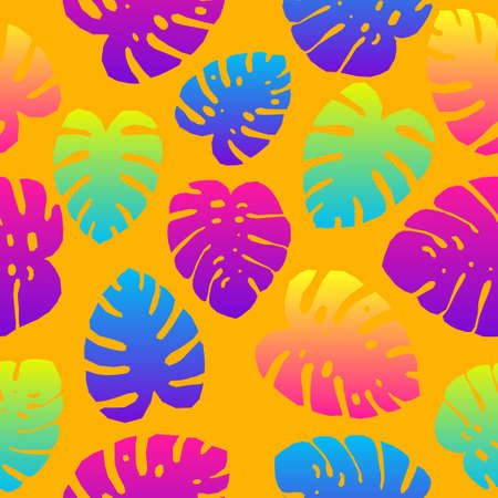 Seamless Sunner Time Tropical Pattern Background