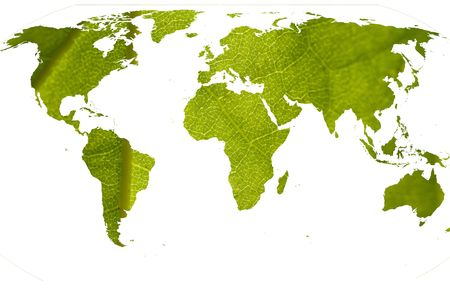Abstract idea for green and clean world Standard-Bild