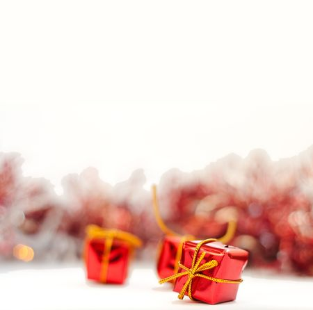Christmas gifts isolated on white background Stock Photo - 5704886
