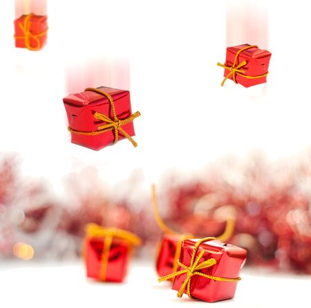 Christmas gifts isolated on white background Stock Photo - 5704887