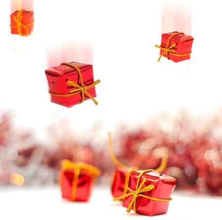 Christmas gifts isolated on white background photo