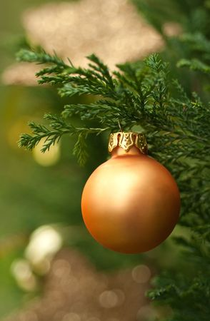 Detail from green Christmas tree