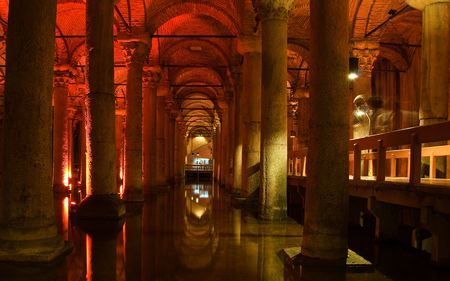 Ancient cisterns in Istanbul, Turkey photo