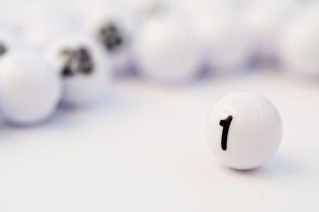 Abstact idea for winning with bingo balls 免版税图像