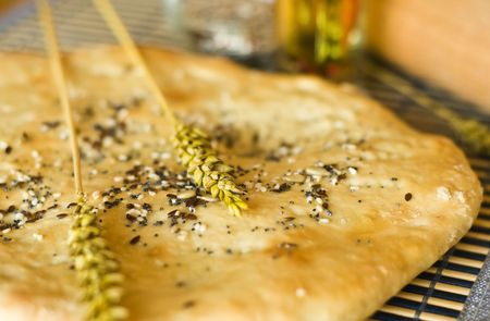 Home made turkish bread with wheat Stock Photo - 5992772