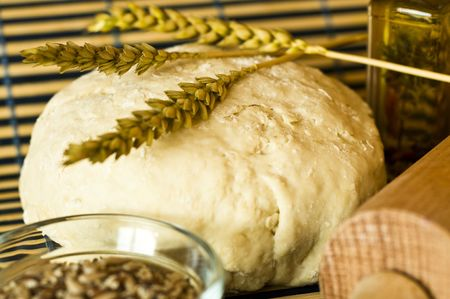 Home made turkish bread with wheat Stock Photo - 5992774