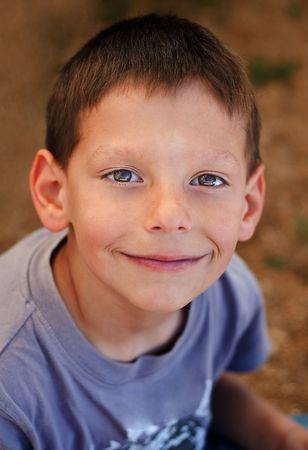 Little happy smiling boy portrait Stock Photo