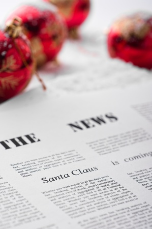 Abstract idea for Christmas newspaper Stock Photo