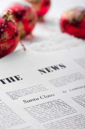 Abstract idea for Christmas newspaper 免版税图像