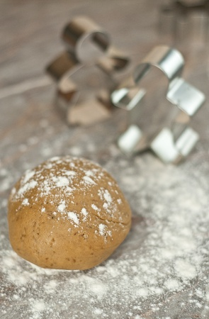 Prepare of gingerbread man for Christmas