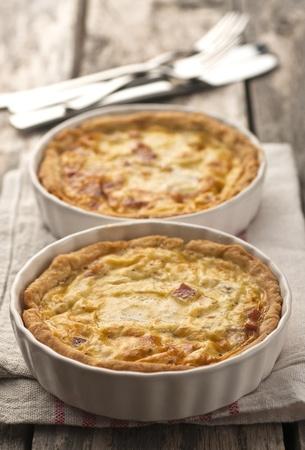 Quiche Lorraine - ready for eating 免版税图像