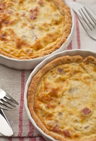 Quiche Lorraine - ready for eating Stock Photo
