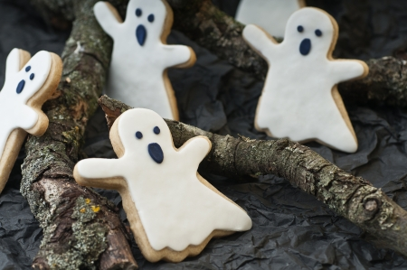 Ghost cookies for Halloween party photo