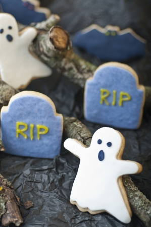 Scary Halloween cookies for party photo