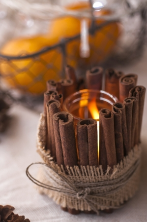 candle holders: Handmade candle holder for Christmas