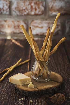 Parmesan: Homemade Grissini with Parmesan cheese