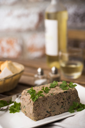 dish: Chicken liver terrine with wine