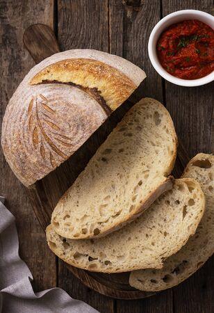 Homemade semola bread
