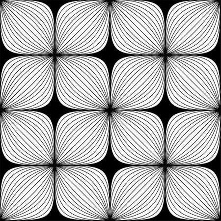 Doodle monochrome line seamless pattern