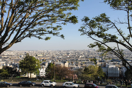 an overview: Paris from Sacre Coeur overview