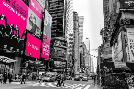 タイムズ ・ スクエアのカラーキーのニューヨーク ブロードウェイ