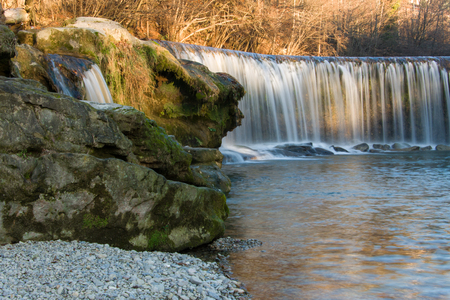 Waterfall near Winterthur, Switzerland Stock Photo