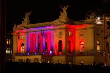 illuminated: Illuminated building