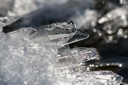 ice water: Ice made from water in a lake