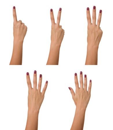 Rekenen vrouw hand